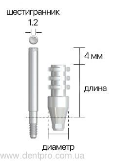 Трансфер для открытой ложки ISIP, ∅ 4.0мм, NeoBiotech - 1