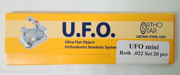 Брекеты металлические UFO mini (Ortho Star, USA), Roth паз 022, нижняя челюсть 10шт. - 2