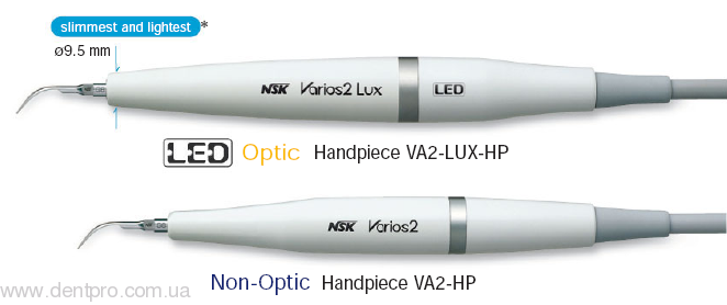 Varios2 970 LUX / 970 (NSK LED skaler), автономный ультразвуковой пьезоэлектрический скалер (Вариос 970 Люкс НСК скелер) - 1