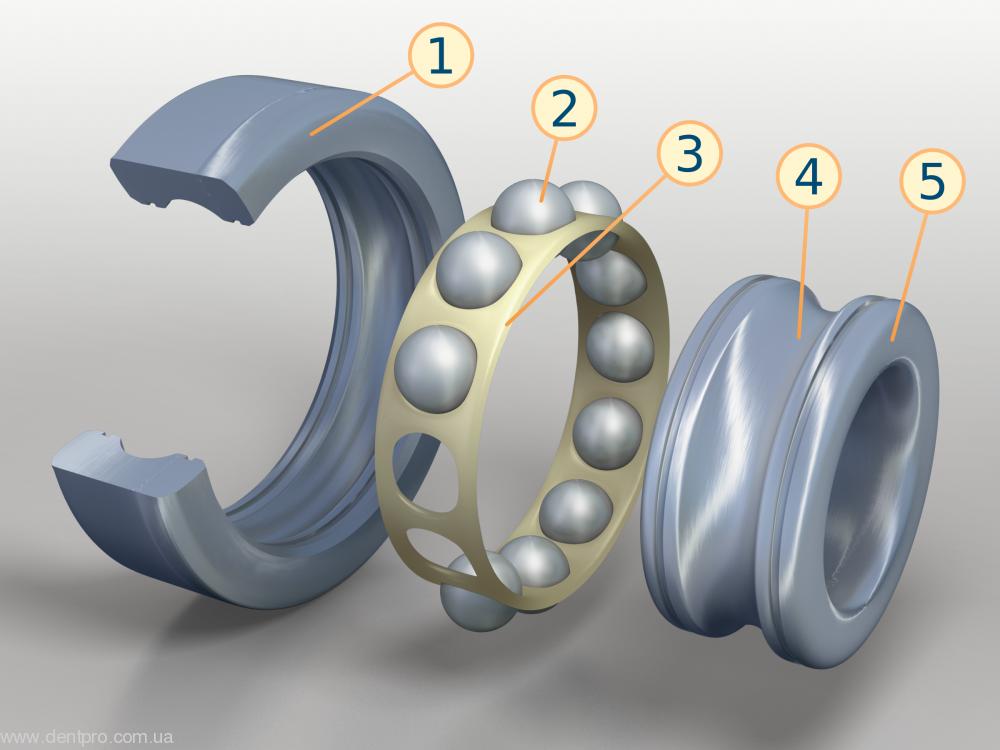 Наконечник угловой повышающий Ti-Max Z 95L 1:5 (NSK) кнопочный для турбинного бора, Z-series - 5