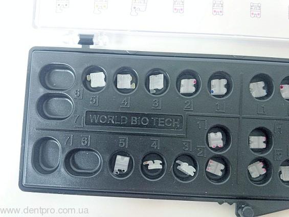 Брекеты керамические Bright-I (WBT), Roth 022 фронтальные 3 - 3 одна челюсть, упаковка 6шт - 2