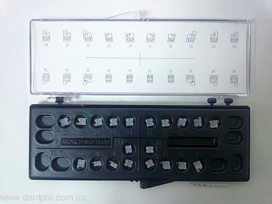 Брекеты керамические Bright-I (WBT), Roth 022, фронтальные набор 3 - 3, упаковка 12шт - 1