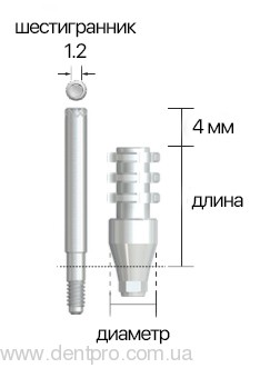 Трансфер для открытой ложки ISIP, ∅ 4.8мм, NeoBiotech - 1