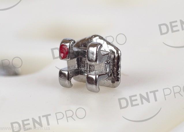 Брекеты металлические  Mini PROTECT Roth .022 с крючком на 3, 4, 5, челюсть 5-5 (10 шт) - 1