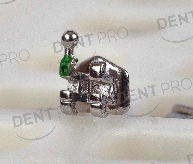 Брекеты металлические  Mini PROTECT Roth .022 с крючком на 3, 4, 5, челюсть 5-5 (10 шт) - 2