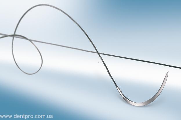 Шовный материал Оптилен (Optilene B.Braun, Испания), монофиламентная нить, нерассасывающийся с иглой, 1шт - 1