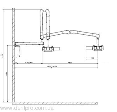Дентальный настенный рентген RXAC70 (Trident, Италия), переменного тока - 1