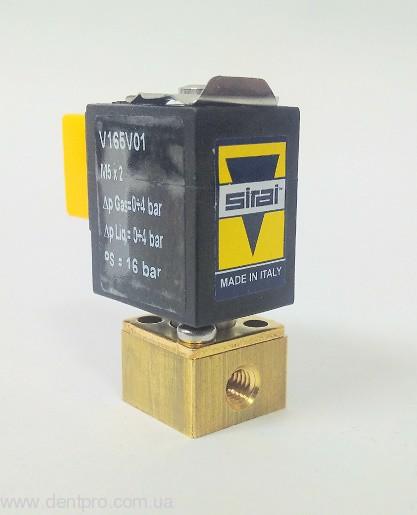 Электромагнитный клапан вода / воздух Sirai (Италия), 24VDC 4W (Solenoid Valve, Микроклапан) - 2