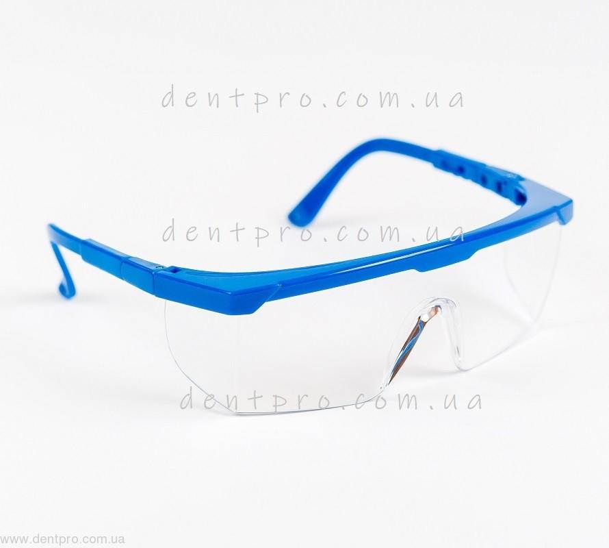 Очки защитные c незапотевающим покрытием, боковая защита,  регулируемые дужки - 1