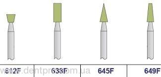Green stones SET II, набор головок полировочных Арканзас для турбинного наконечника (Ref SET 5006), 6 шт в органайзере - 1