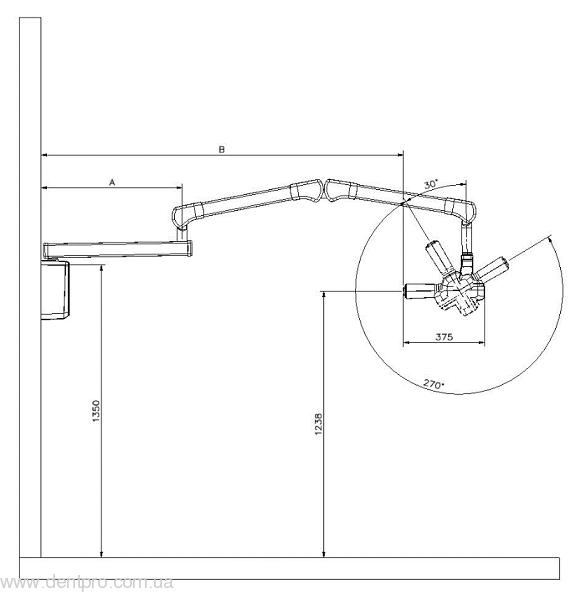 Дентальный настенный рентген RXDC70 (Trident, Италия), постоянного тока - 1