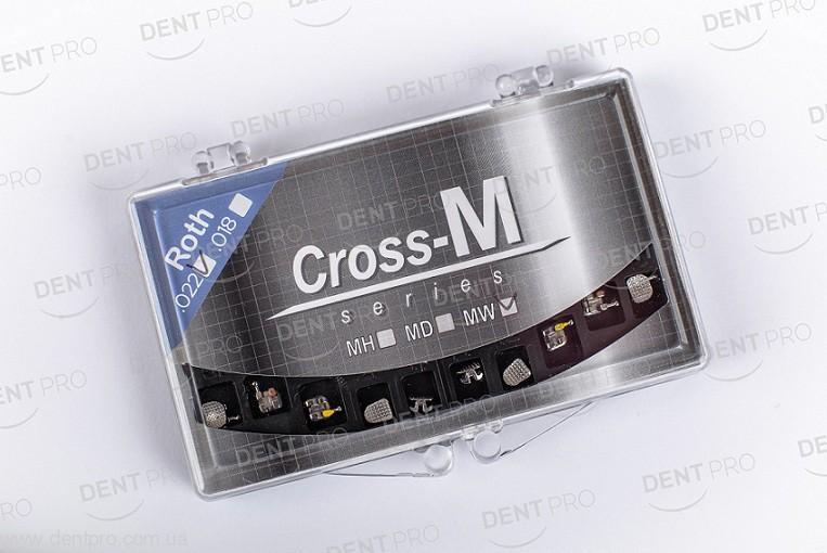Брекеты металлические мини Cross-MW (Ю.Корея), Roth 022 с сеткой, челюсть 10шт - 2