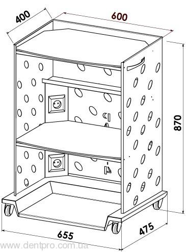 Медицинский столик Панок-4  электрофицированный для инструментов и приборов - 4