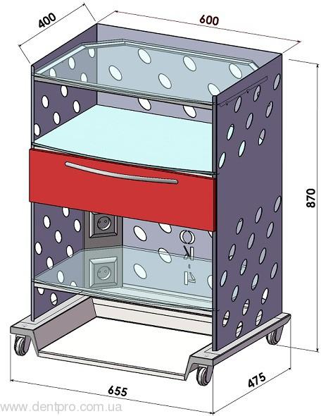 Медицинский столик Панок-4  электрофицированный для инструментов и приборов - 3