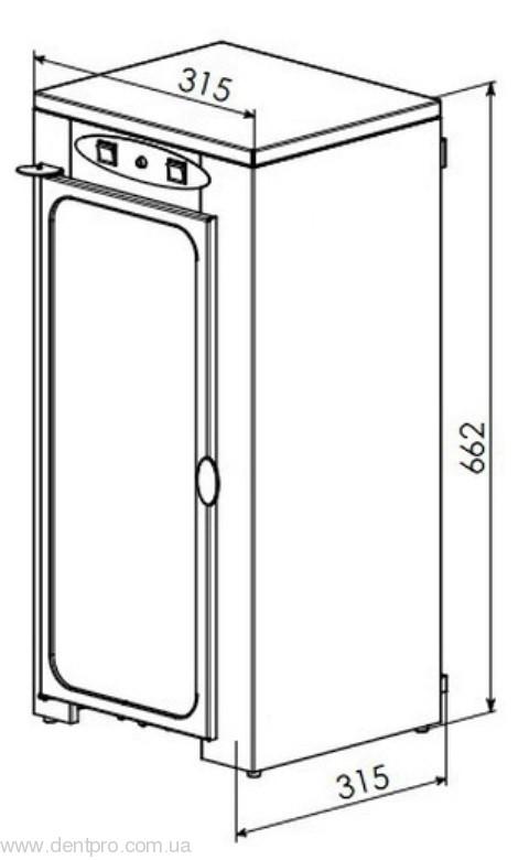 УФ камера вертикальная, для хранения стерильного инструмента ПАНМЕД-10 - 1