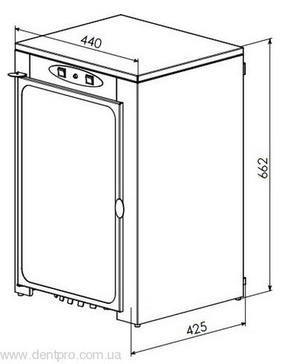УФ камера вертикальная, для хранения стерильного инструмента ПАНМЕД-10 - 8
