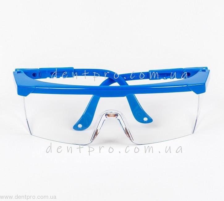 Очки защитные c незапотевающим покрытием, боковая защита,  регулируемые дужки - 2