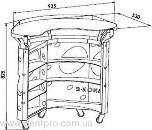 Медицинский столик ПАНОК овальный для инструментов и приборов - 3