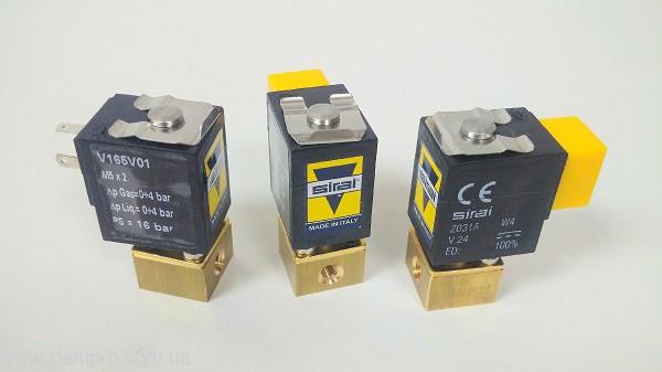 Электромагнитный клапан вода / воздух Sirai (Италия), 24VDC 4W (Solenoid Valve, Микроклапан) - 1
