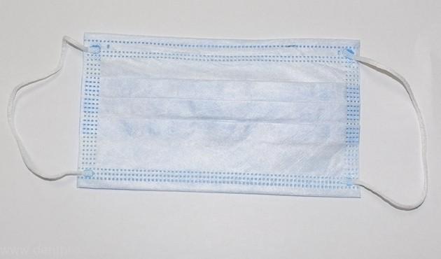 Маски процедурные одноразовые, 3-х слойные с носовым фиксатором, упаковка 50шт - 2