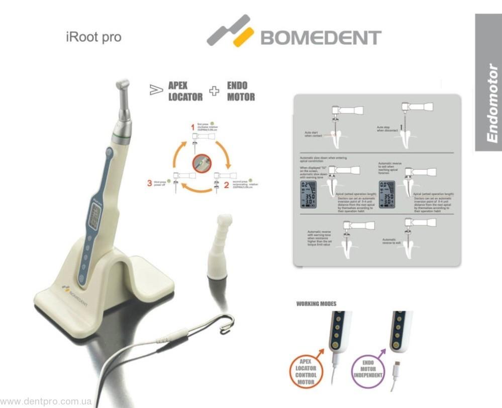 АКЦИЯ (!) iRoot Pro (BOMEDENT), беспроводной эндодонтический мотор со встроенным Апекслокатором и функцией Bluetooth (эндомашина) - 1