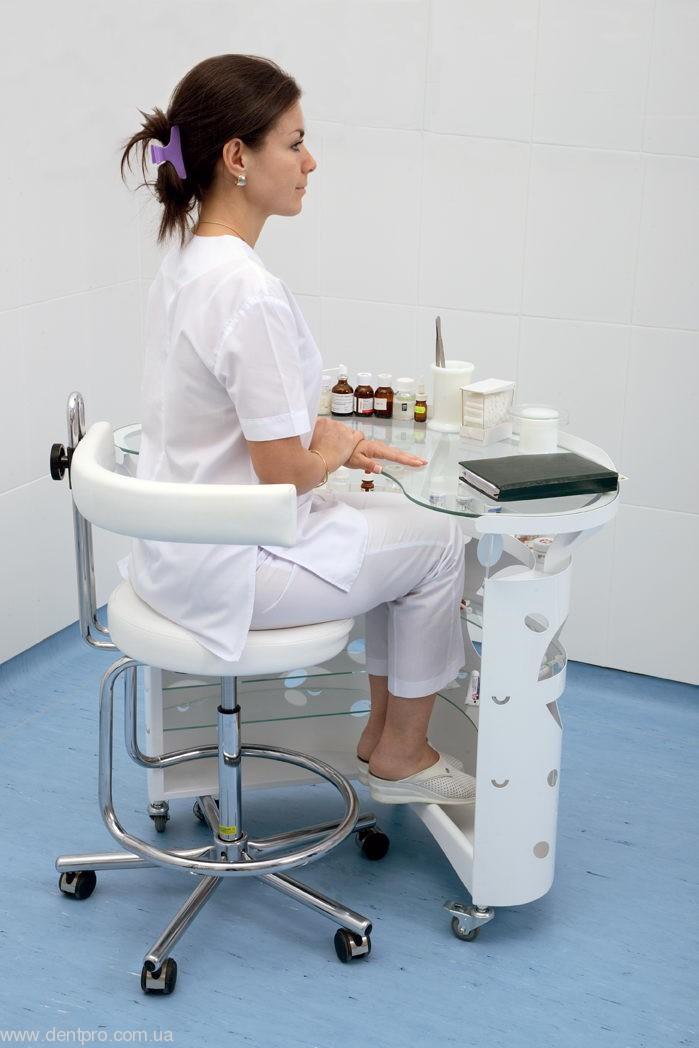Медицинский столик ПАНОК овальный для инструментов и приборов - 2