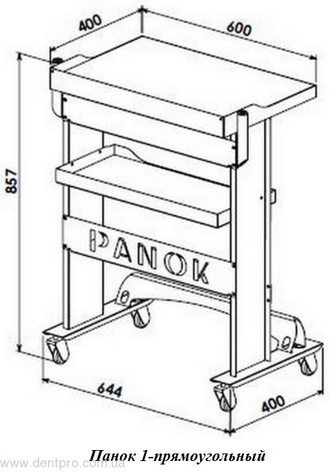 Медицинский столик ПАНОК прямоугольный для инструментов и приборов - 2