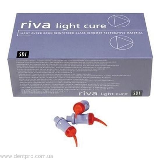Рива ЛЦ (Riva Light Cure, SDI) стеклоиономерный материал светового отверждения (Riva LC), капсула 0.42г - 1