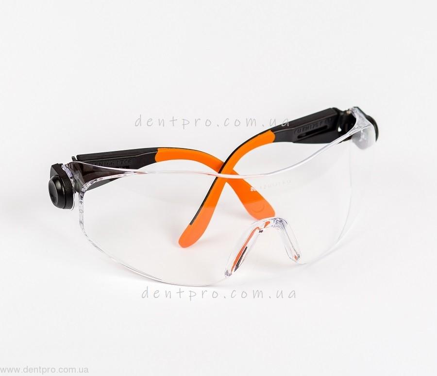Очки защитные Univet 529.00.05.00, прозрачные, защита от царапин - 3